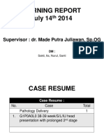 MORNING REPORT prolong 2nd stage + VE
