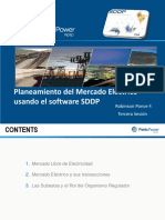 Planeamiento Del Mercado Eléctrico Usando El Software SDDP Tercera Sesión