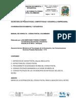 Manual Correspondencia Cdigo Postal