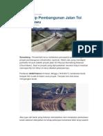 ARTIKEL - Pembangunan Jalan Tol Cisumdawu