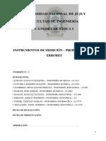 Instrumentos de medición propagacion de errores. Informe