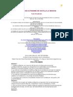 Estatuto Autonomía CLM. Actualizado
