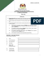 Borang Penilaian Prestasi Khas Bagi Pegawai Kumpulan Pengurusan Dan Professional Dan Kumpulan Sokongan 2016