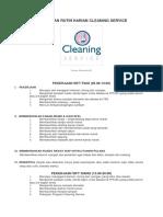 Pekerjaan Rutin Harian Cleaning Service