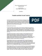 Gowler David - 2000 - Parables and Their Social Contexts