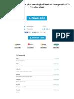 Goodman Gilman the Pharmacological Basis of Therapeutics 12e Free Download