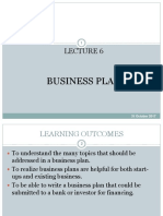 Lecture 6 Business Plan