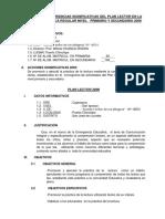 Acciones y Experiencias Significativas Del Plan Lector en La Educación Básica Regular Nivel Secundario 2009docx