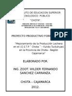Proy Productivo Lima Chota Nov 2012