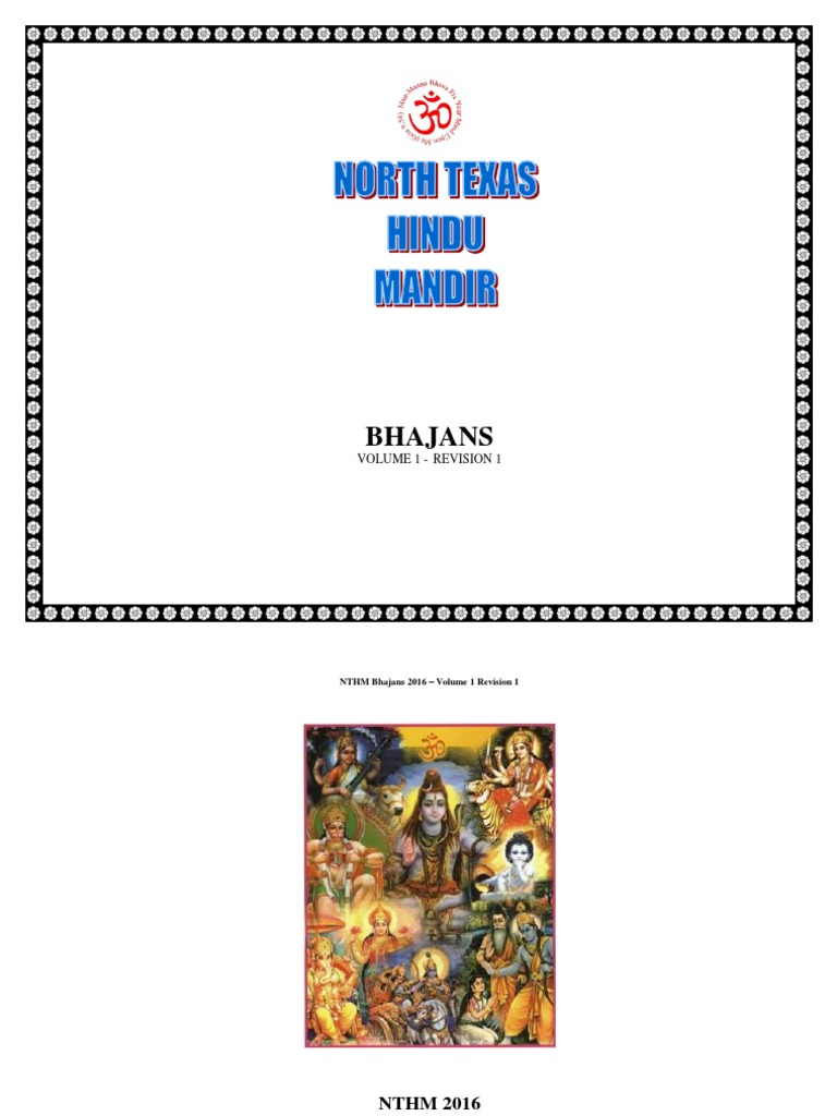 Nthm Bhajan Book Landscape Wide Mantra Hindu Behaviour And Experience