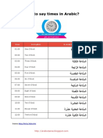 How to Say Times in Arabic - ArabicZania