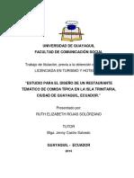 Estudio Para El Diseño de Un Restaurante Tematico en La Isla Trinitaria