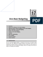 Chapter 17 Zero-Base Budgeting