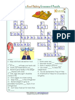 Crossword Puzzle Kids Healthy Words Food Safety AK
