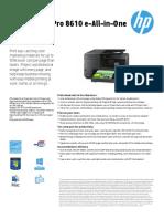 HP Officejet Pro 8610 EAiO Printer