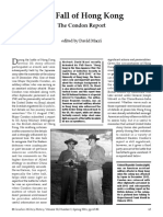 The Fall of Hong Kong - The Condon Report - David Macri 2011 - Canadian Military History Vol. 20 Iss. 2 , Article 8