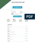 Google Sketchup Hotkeys PDF