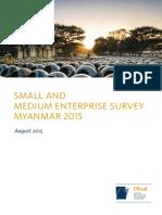 SMALL AND MEDIUM ENTERPRISE SURVEY MYANMAR 2015