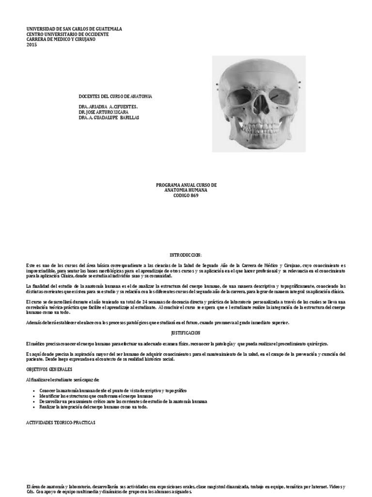 Program a Anatomia 2015