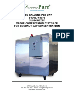 ForeverPure 2500 Gallons Per Day Sap Vapor Compression Evaporator - Customized 2014