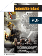 Condensed Induced Waterhammer