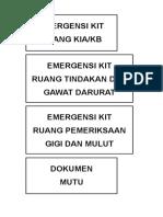 Label Emergensi Kit