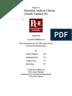 Chassis Analysis of Suzuki Samurai