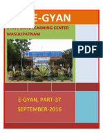 37th Issue E-gyan September, 2016