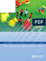 Final-Closing the Health Equity Gap WHO 2013