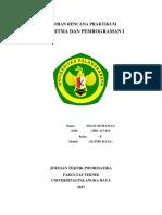 Modul II Laporan Rencana Praktikum Algoritma Dan Pemrogram i