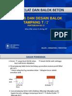 143578_lec 12 Dpbb Analisis Dan Desain Balok Tampang T- Atika 2016