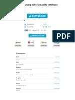 Goulds Pump Selection Guide Catalogue