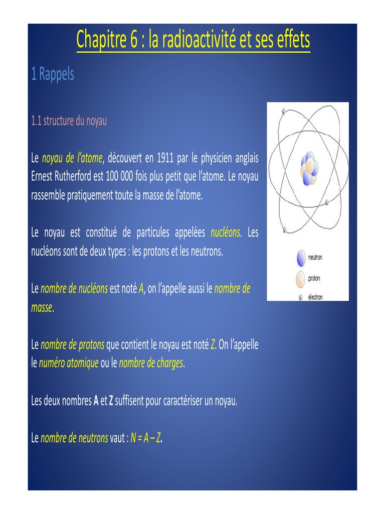 Notes radioactives de datation