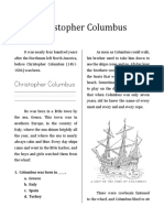 Christopher Columbus Workbook