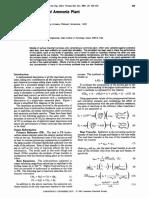 Process simulation of ammonia plant