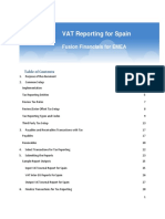 Vat Reporting for Spain Topical Essay