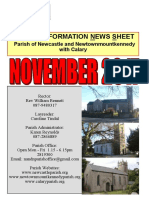 Parish News - Parishes of Newcastle & Newtownmountkennedy with Calary, in east Co. Wicklow