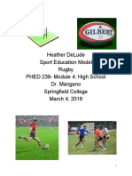 Sport Ed. Model-Rugby