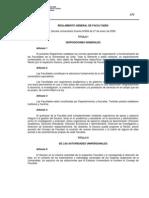 Reglamento General de Facultades - Universidad de Chile