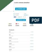 Gps Active Antenna Datasheet