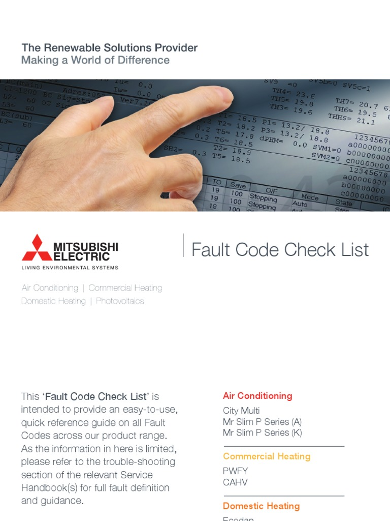 Mitsubishi Fault Codes pdf | Power Inverter | Power Supply