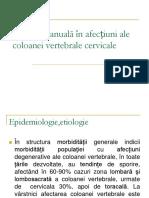 Terapia Manuală in Af Cervicalet Catedra