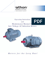 Operating Instructions and Maintenance Manual for LV AC Induction Motors