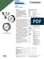 Datasheet Commercial Gauges 1005