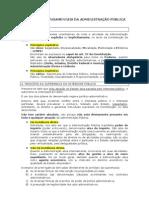 PRINCÍPIOS FUNDAMENTAIS DA ADMINISTRAÇÃO PÚBLICA