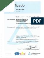 Certificado ISO 9001 2008 TUV Es