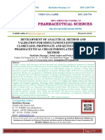 DEVELOPMENT OF ANALYTICAL METHOD AND VALIDATION FOR SIMULTANEOUS ESTIMATION OF CLOBETASOL PROPIONATE AND KETOCONAZOLE IN PHARMACEUTICAL CREAM FORMULATION BY RP-HPLC METHOD