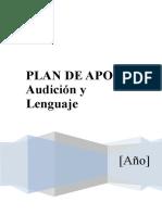 52312281 Plan de Apoyo Audicion y Lenguaje