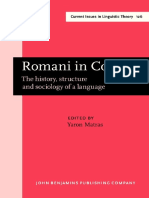 Yaron Matras Ed. Romani in Contact the History, Structure and Sociology of a Language
