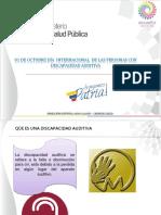01 de Octubre Dia Mundial de Las Personas Con Discapacidades Auditivas